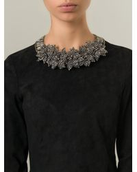 Night Market - Gray 'Deep Flower' Necklace - Lyst