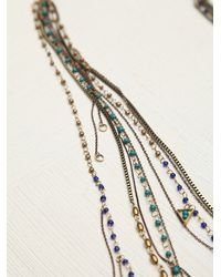 Free People - Blue Multi Charm Rosary - Lyst