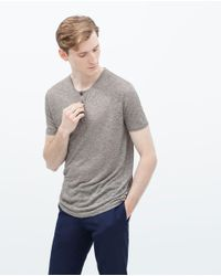 Zara | Gray Button Neck Sweater for Men | Lyst