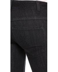 Free People - Destroyed Crop Skinny Jeans - Stark Black - Lyst