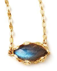 Lana Jewelry | Metallic Labradorite Charm Necklace | Lyst