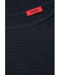 HUGO - Blue Dress In Cotton Blend: 'sashary' - Lyst
