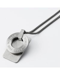 Storm | Metallic Polan Tag Necklace for Men | Lyst