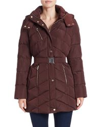 Ivanka Trump | Purple Belted Down Jacket | Lyst