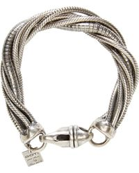 Goti - Metallic Silver Twisted Chain Bracelet for Men - Lyst