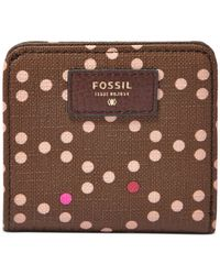 Fossil - Brown Sydney Printed Bifold Wallet - Lyst