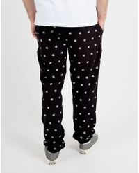 Champion | Black Joggers With All Over Print for Men | Lyst