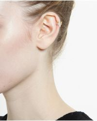 Yvonne Léon | Metallic 18K Gold And Diamond Helix Earring | Lyst