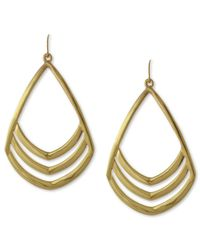 Vince Camuto | Metallic Gold-tone Cut Out Drop Earrings | Lyst