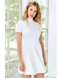 Silence + Noise | White Mock-neck Dress | Lyst