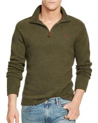 Polo Ralph Lauren | Green French-rib Half-zip Pullover for Men | Lyst