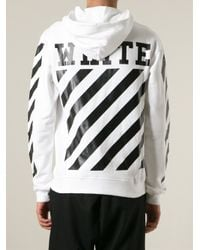 Off-White c/o Virgil Abloh - White Photo Print Striped Sweatshirt for Men - Lyst