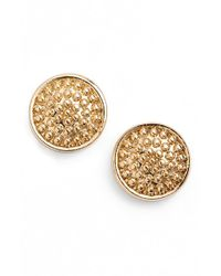 Anne Klein | Metallic Beaded Stud Earrings | Lyst