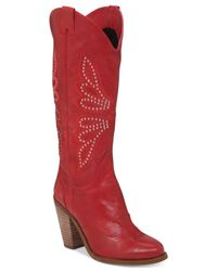Jessica Simpson | Red Caralee Western Boots | Lyst
