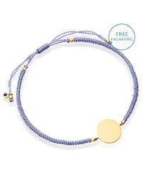 Astley Clarke | Purple Biography 18ct Gold Vermeil Engraveable Disc Cord Bracelet | Lyst