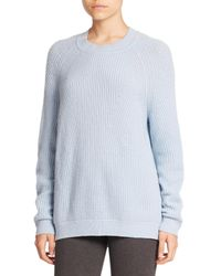 Vince - Blue Directional Rib Wool/cashmere Sweater - Lyst