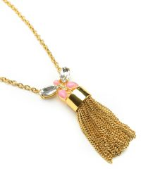 Juicy Couture | Metallic Butterfly Tassel Necklace | Lyst