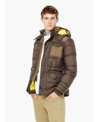 Mango | Brown Detachable Hood Quilted Coat for Men | Lyst