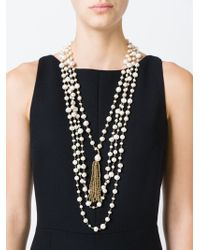 Rosantica | Metallic Faux Pearl Tassel Necklace | Lyst