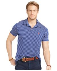 Polo Ralph Lauren - Blue Performance Lisle Polo Shirt for Men - Lyst