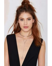 Nasty Gal - Metallic Down 'n Dirty Arrow Lariat Necklace - Lyst