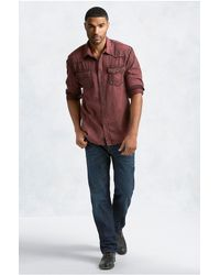 True Religion | Red Western Acid Wash Mens Shirt for Men | Lyst