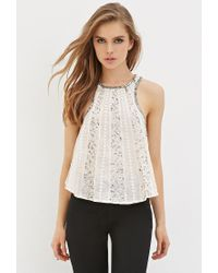 Forever 21 | Pink Sequin Racerback Top | Lyst