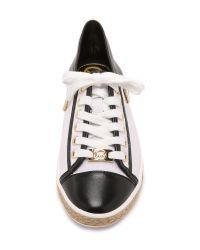 MICHAEL Michael Kors | Black Kristy Sneakers - Optic White | Lyst