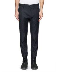 Ann Demeulemeester - Black Diamond Print Wool-cashmere Cropped Pants for Men - Lyst