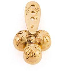 Yvonne Léon | Metallic 18Kt Gold 'Trilogie' Stud Earring | Lyst