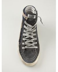 Golden Goose Deluxe Brand - Blue 'slide' Hi-top Sneakers - Lyst