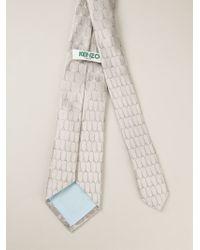 KENZO | Gray Eiffel Tower Tie for Men | Lyst