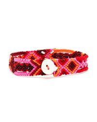 Dezso by Sara Beltran | Pink Handwoven Shark Tooth Bracelet | Lyst