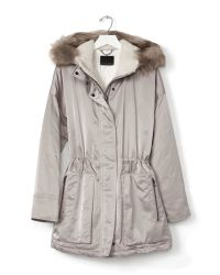 Banana Republic | Brown Taupe Parka | Lyst