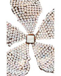 Rosie Assoulin - Metallic Swarovkski Crystal Adorned Single Flower Earring - Lyst