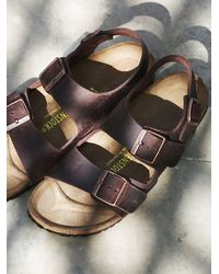Free People - Purple Milano Birkenstock - Lyst