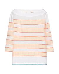 lemlem | Orange Bara Striped Cotton-blend Top | Lyst