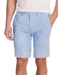 Polo Ralph Lauren | Blue Straight-fit Briton Chambray Shorts for Men | Lyst