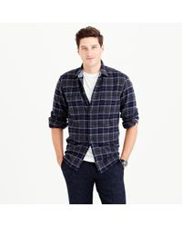 J.Crew | Blue Wallace & Barnes Heavyweight Flannel In Lenox Plaid for Men | Lyst