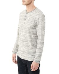 Alternative Apparel - Gray Frontier Eco-space Dye Thermal Henley Shirt - Lyst