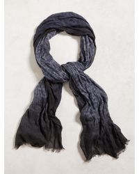 John Varvatos | Blue Paisley Degrade Scarf for Men | Lyst