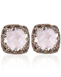 Larkspur & Hawk - Small Pale Pink Topaz Jane Stud Earrings - Lyst