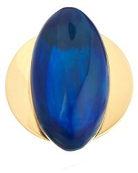 Marni - Blue Oval Horn Ring - Lyst