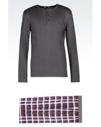 Emporio Armani   Gray Pyjama for Men   Lyst