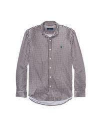 Polo Ralph Lauren - Brown Gingham Cotton Interlock Shirt for Men - Lyst