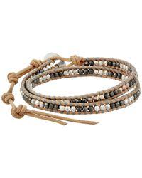 Chan Luu | Natural 13' Nugget/beige Double Wrap Bracelet for Men | Lyst