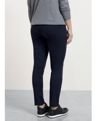 Violeta by Mango | Blue Zip Cotton Trousers | Lyst