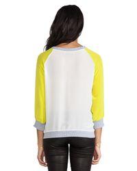 Sjobeck - Yellow Silk Sweatshirt - Lyst
