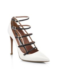 Tabitha Simmons | White Josephina Buckled Cage Pump | Lyst