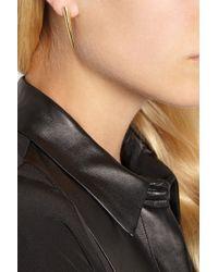 Maiyet - Metallic Horn Tip Goldplated Earrings - Lyst